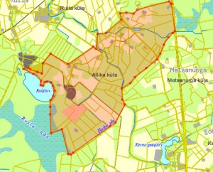 Allika küla kaart